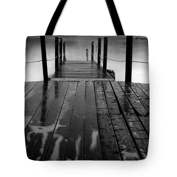 The Pier...protaras Tote Bag by Stelios Kleanthous