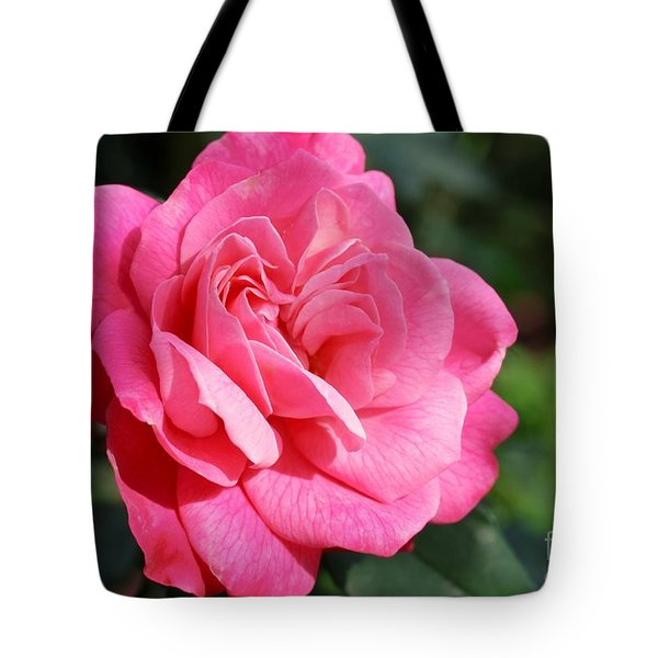 Tote Bag featuring the photograph The Pink Rose by Fotosas Photography