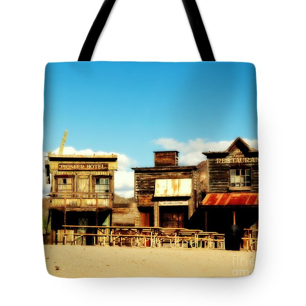 The Pioneer Hotel Old Tuscon Arizona Tote Bag by Susanne Van Hulst