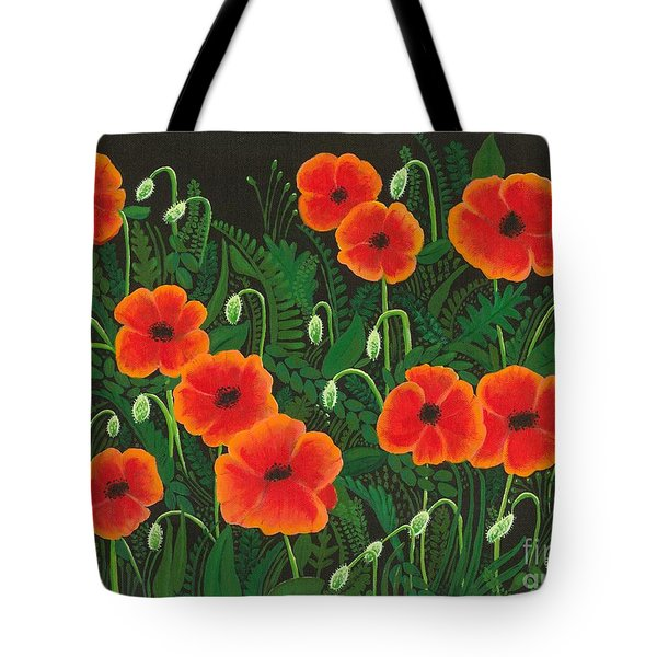 The Poppy Patch Tote Bag