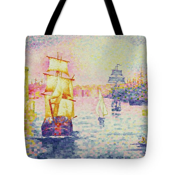 The Port Of Marseilles Tote Bag by Henri-Edmond Cross
