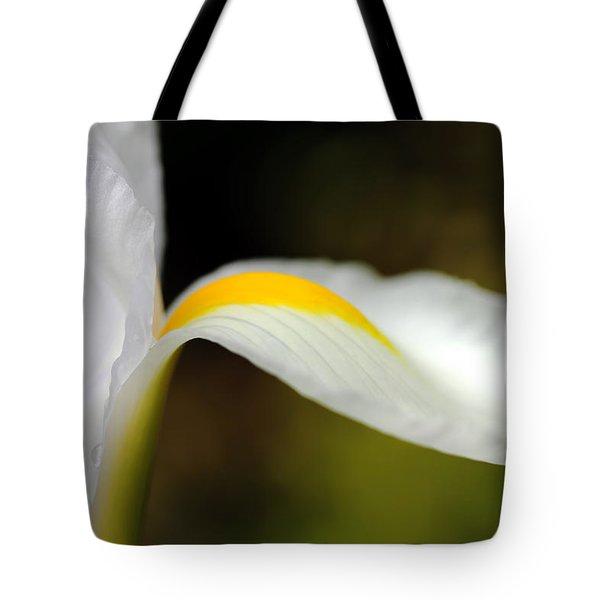 The Pose White Dutch Iris Flower  Tote Bag by Jennie Marie Schell