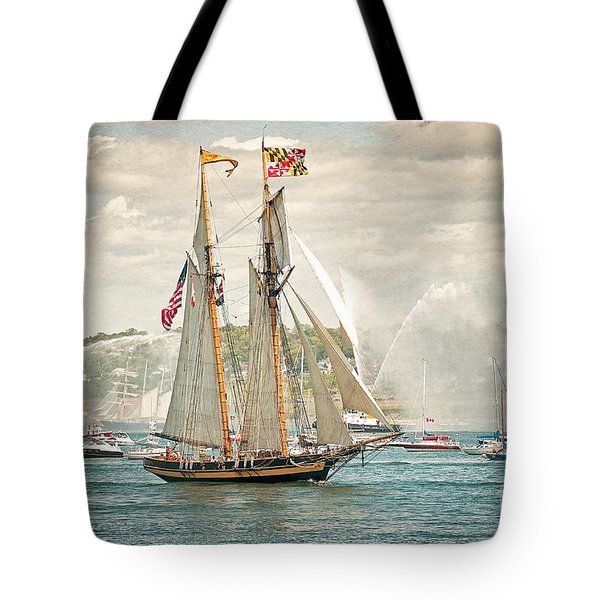 Tote Bag featuring the photograph The Pride Of Baltimore by Verena Matthew