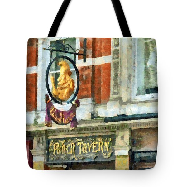 The Punch Tavern At 99 Fleet Street In London Tote Bag by Steve Taylor