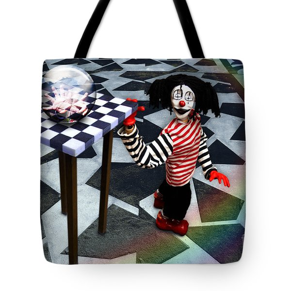 Tote Bag featuring the digital art The Puppet Freedom by Rosa Cobos