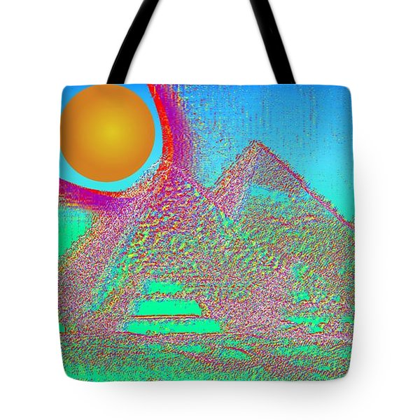 The Pyramids Tote Bag by Helmut Rottler