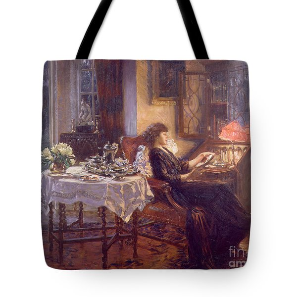 The Quiet Hour Tote Bag by Albert Chevallier Tayler