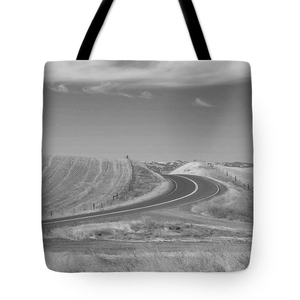 Tote Bag featuring the photograph The Quiet Road by Kathleen Grace