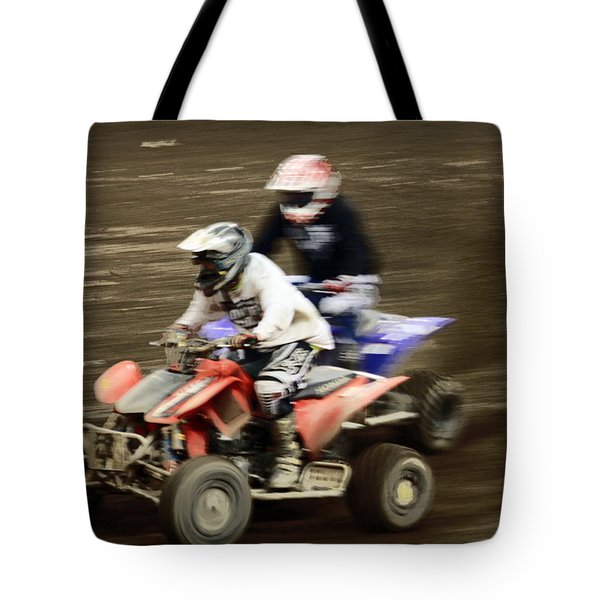 The Race To The Finish Line Tote Bag by Karol Livote