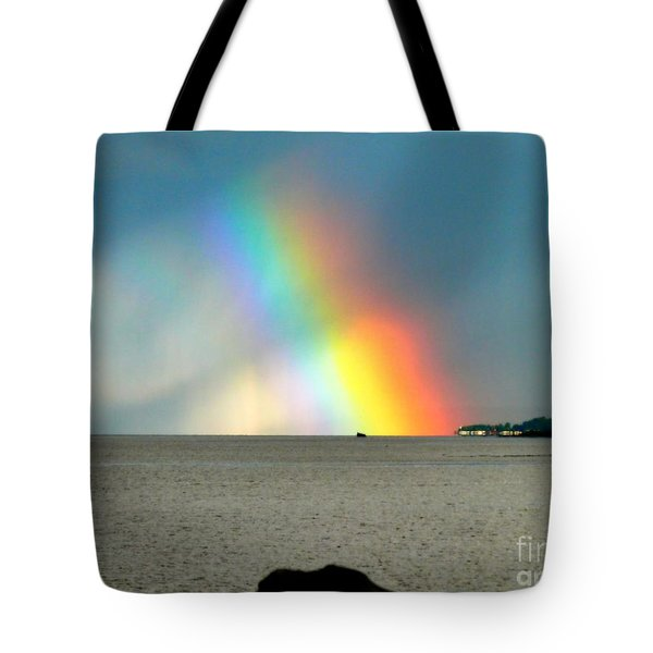 The Rainbow's Edge Tote Bag