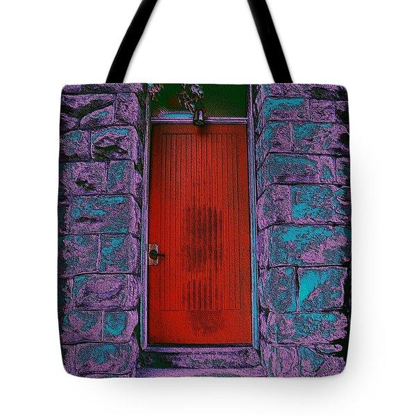 The Red Door Tote Bag by Tim Allen