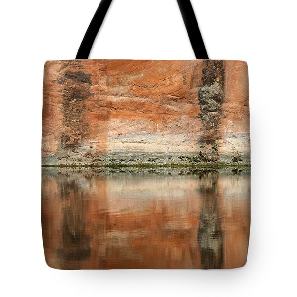 Tote Bag featuring the photograph The Reflecting Wall by Nola Lee Kelsey