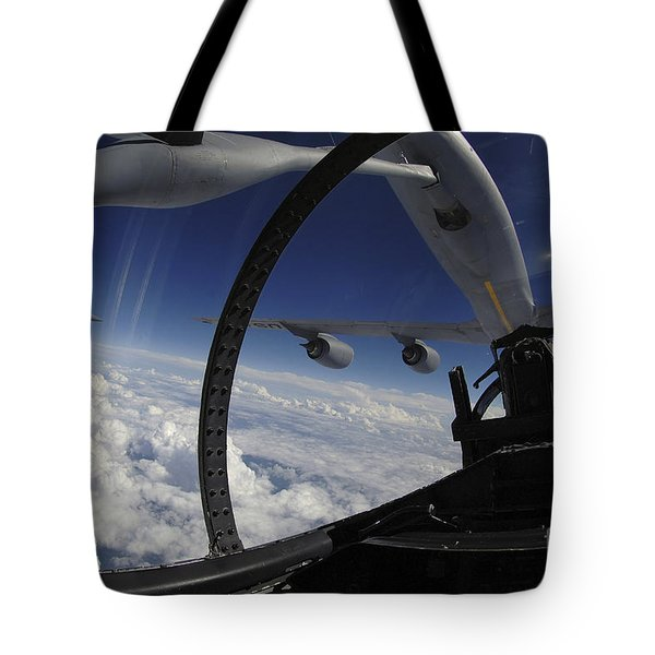 The Refueling Boom From A Kc-135 Tote Bag by Stocktrek Images