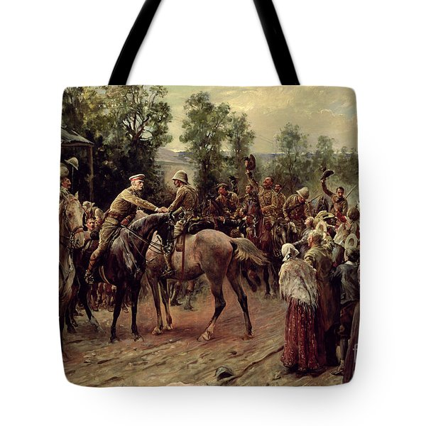 The Relief Of Ladysmith On 27th February 1900 Tote Bag by John Henry Frederick Bacon