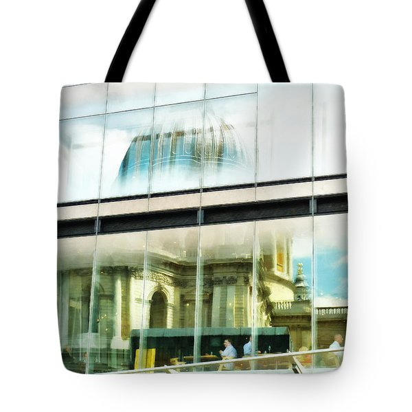 The Restaurant With A View Of St Pauls Cathedral Tote Bag
