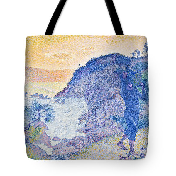 The Return Of The Fisherman Tote Bag by Henri-Edmond Cross