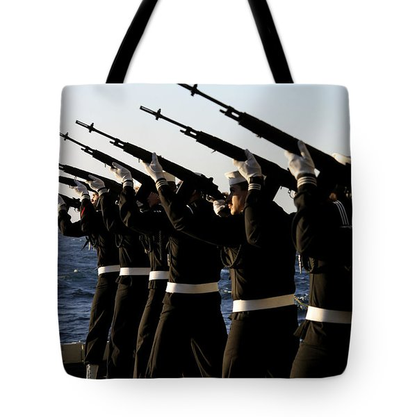 The Rifle Detail Aboard Tote Bag by Stocktrek Images