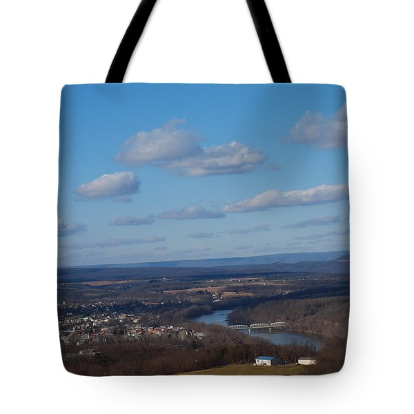 The River Below Tote Bag by Robert Margetts
