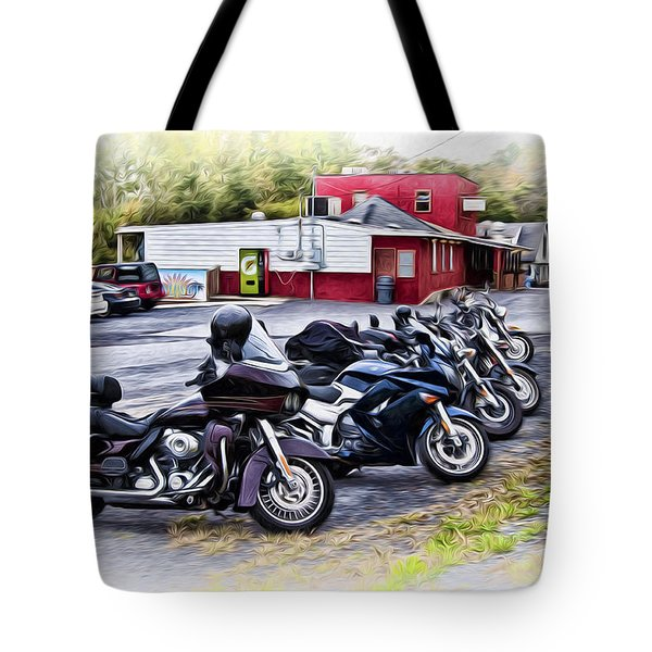 The Riverside Barr And Grill - Easton Pa Tote Bag by Bill Cannon