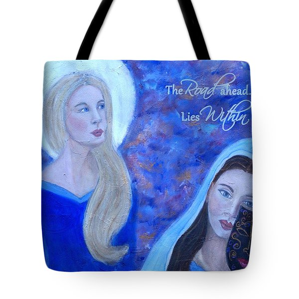 The Road Ahead Lies Within Tote Bag by The Art With A Heart By Charlotte Phillips