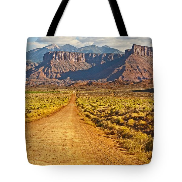 The Road Beckons Tote Bag by Bob and Nancy Kendrick