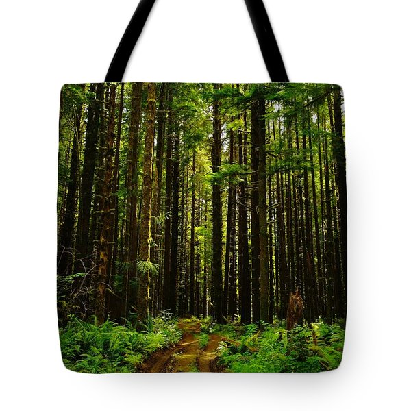 The Road Into The Green  Tote Bag by Jeff Swan