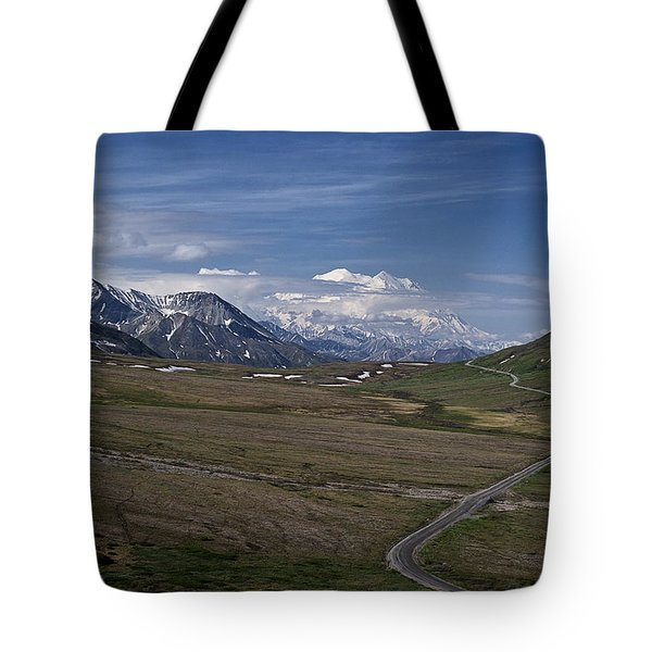 The Road To The Great One Tote Bag by Wes and Dotty Weber
