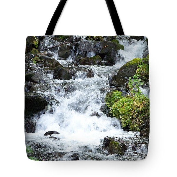 Tote Bag featuring the photograph The Roadside Stream by Chalet Roome-Rigdon