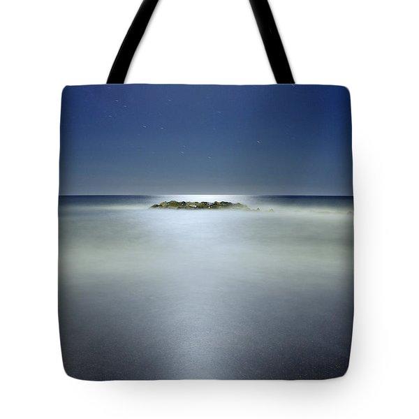 The Rock Island Under De Moonlight Tote Bag by Guido Montanes Castillo