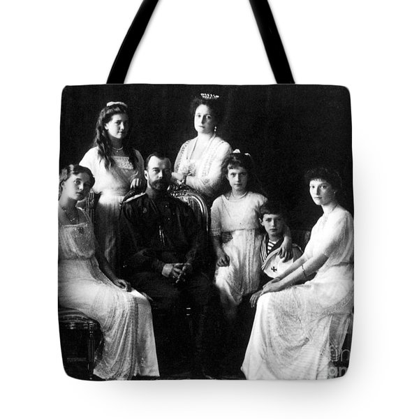 The Romanovs, Russian Tsar With Family Tote Bag by Science Source