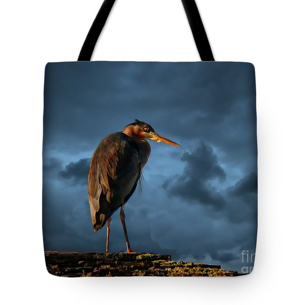 The Rooftop Watcher Tote Bag