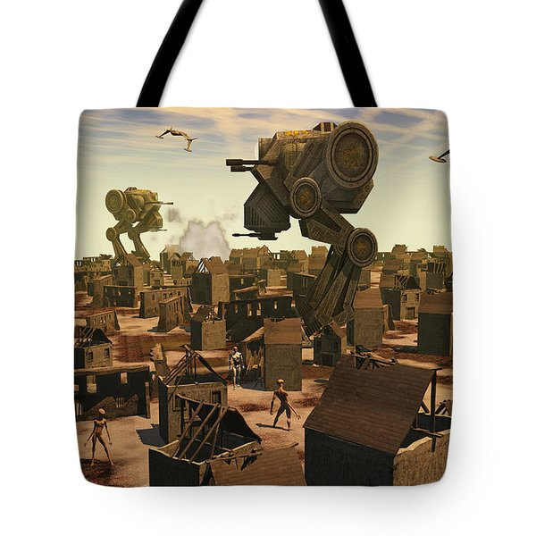 The Ruins Of An Earth Type Environment Tote Bag by Mark Stevenson