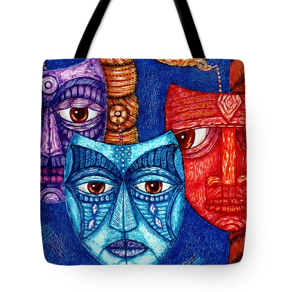The Sadness The Mistrust And The Fatigue Tote Bag by Madalena Lobao-Tello