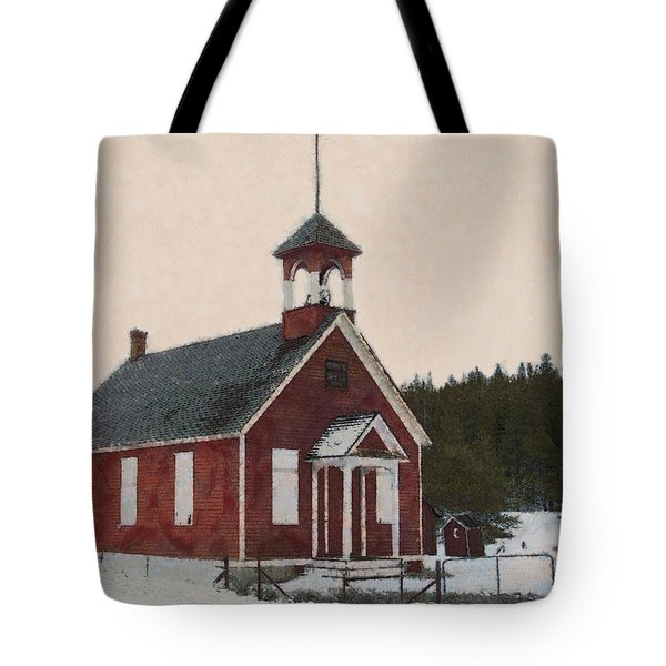 The School House Painterly Tote Bag by Ernie Echols