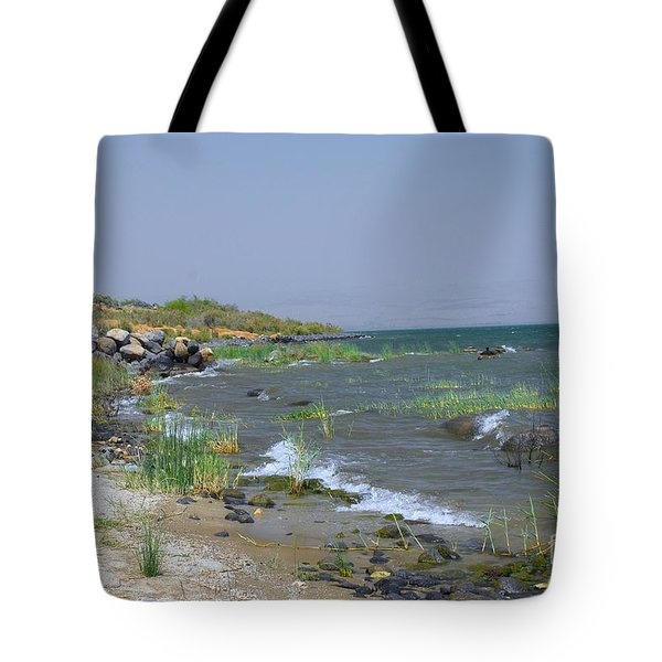 The Sea Of Galilee Tote Bag by Eva Kaufman