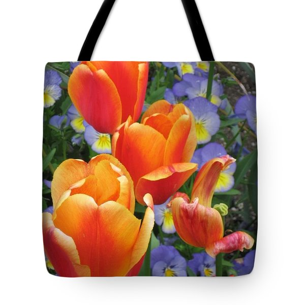 The Secret Life Of Tulips - 2 Tote Bag by Rory Sagner