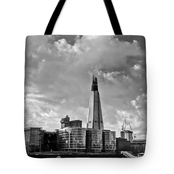 The Shard London Black And White Tote Bag