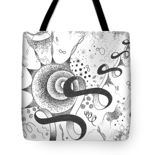 The Silent Dance Of The Particles Tote Bag by Helena Tiainen