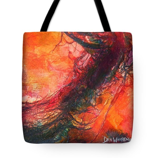 Tote Bag featuring the painting The Singer by Dan Whittemore
