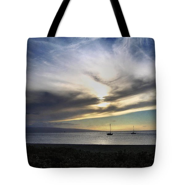 The Sky Is Exploding Tote Bag by Laurie Search