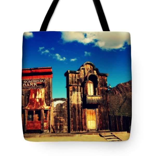 The Sombrero Bank In Old Tuscon Arizona Tote Bag by Susanne Van Hulst
