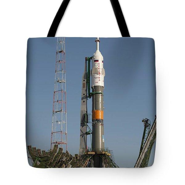 The Soyuz Rocket Shortly After Arrival Tote Bag by Stocktrek Images