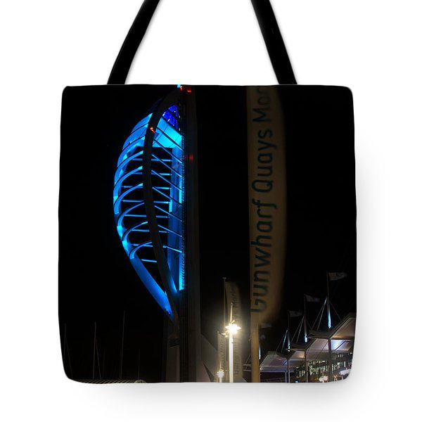 The Spinnaker At Night Portsmouth Tote Bag