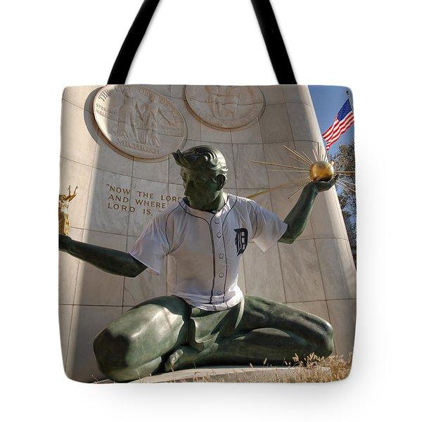 The Spirit Of Detroit Tigers Tote Bag by Gordon Dean II