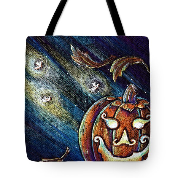 Tote Bag featuring the drawing The Spirit Of Halloween by Nada Meeks