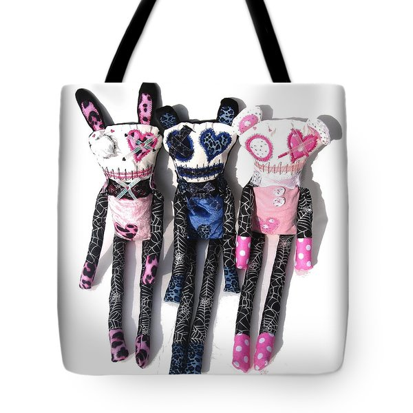 The Spots And Dots Zombie Trio Tote Bag by Oddball Art Co by Lizzy Love