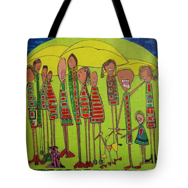 Tote Bag featuring the painting The Spotted Duck by Donna Howard