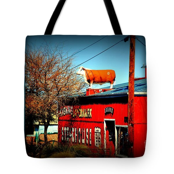 The Steakhouse On Route 66 Tote Bag by Susanne Van Hulst