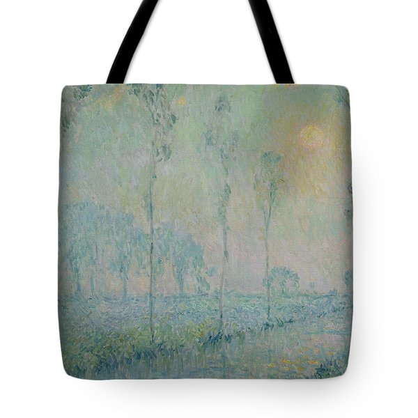 The Stream At Sunset Tote Bag by  Henri Eugene Augustin Le Sidaner