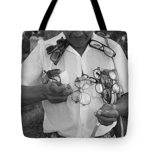 The Street Optician Tote Bag by Michael Mogensen